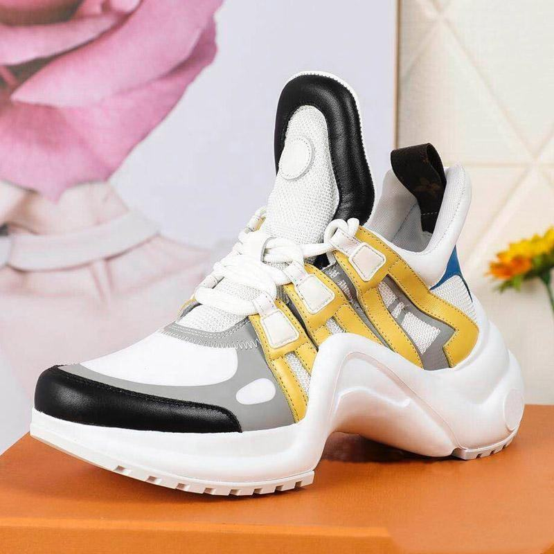 Brand woman shoes new arrivals 2019 luxury design Women Vivid Multi Yellow Hybrid Sports Sneakers Women Running Shoes