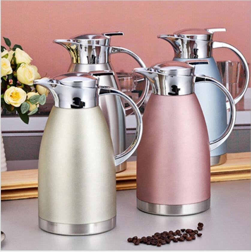 2019 Amazon Hot Selling High Quality 2.3L Vacuum Insulated Thermos Tea Coffee Pot For Coffee Carefe Pot Thermal Coffee Kettle