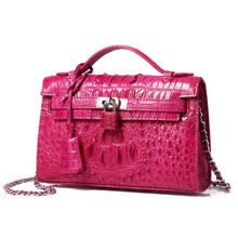 The new real crocodile leather laptop bags