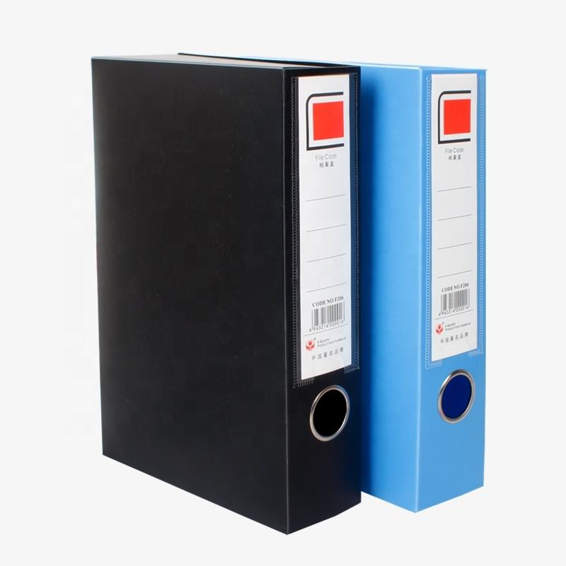 Custom office price 3 inch credential plastic file A4 A5 plastic archive box