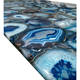Beautiful natural luxury decoration polished stone slabs blue marble onyx agate table