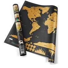 new designed world design custom travel scratch off map