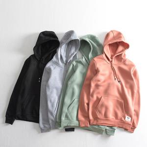 Factory Popular hoodie Custom Men's black Blank crop Pullover Hoodies Men