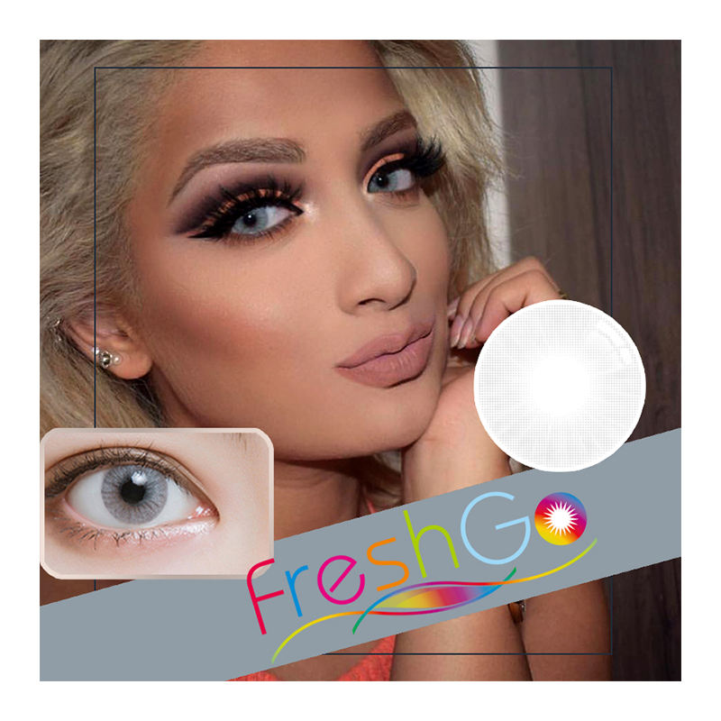 Freshgo Wholesale Private Label Eye Contact Lenses Hidrocor Colored Contacts 1 Year Sweety Aurora Contact Lenses
