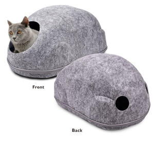 Custom Logo 55*35*27cm Grey Pet Supplies Felt Cat Bed