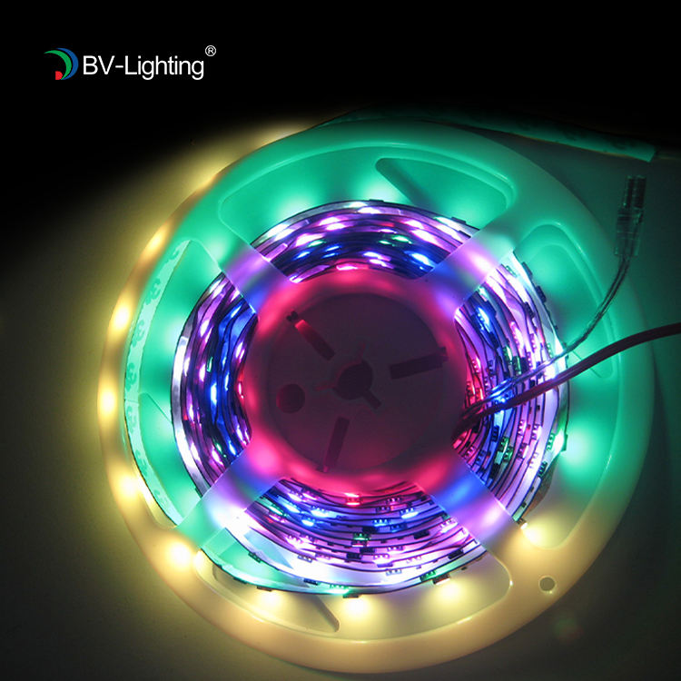 30/60/144 leds ต่อเมตร PCB สีดำ WS2812b DC5V 12 V magic สี rgbw/rgb led strip digital