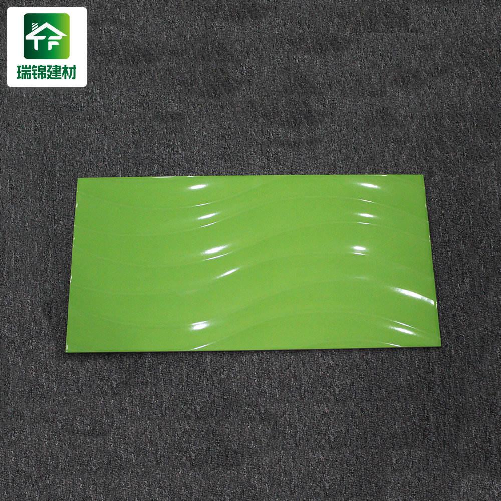 3x6 середине века Дешевые тиснением современный Винтаж плитка Ванна полированный зеленый фарфоровая керамическая плитка Ванна