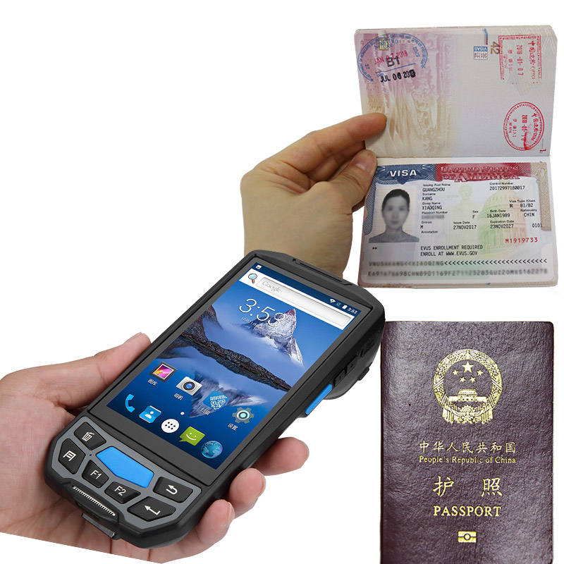 nfc rfid data collector 4G Handheld Android Mobile QR Code Reading MRZ Passport Reader wireless 2d barcode scanner with memory
