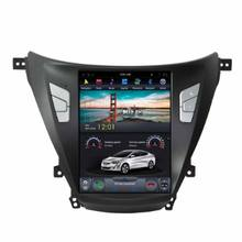 New android 7.1 10.4'' Vertical Screen Tesla Style Car DVD Player Multimedia System for Hyundai Elantra 2012-2016