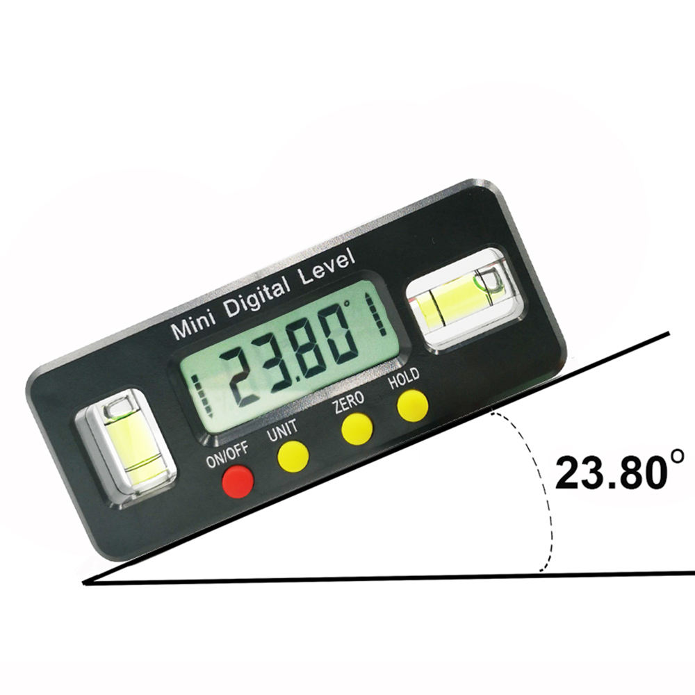 200mm Mini Inclinom/ètre num/érique,360 degr/és 100-200mm Num/érique Angle Finder Inclinom/ètre LCD R/étro-/Éclairage Niveau,utilis/é dans le domaine de la mesure dangle et de niveau