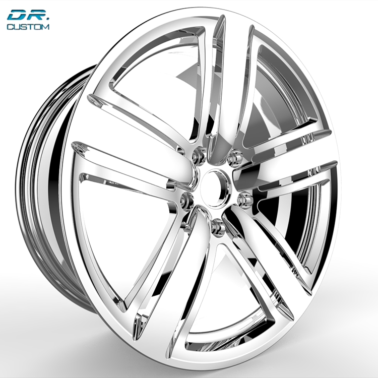 Customizing size industrial offroad alloy black wheels with chrome lip