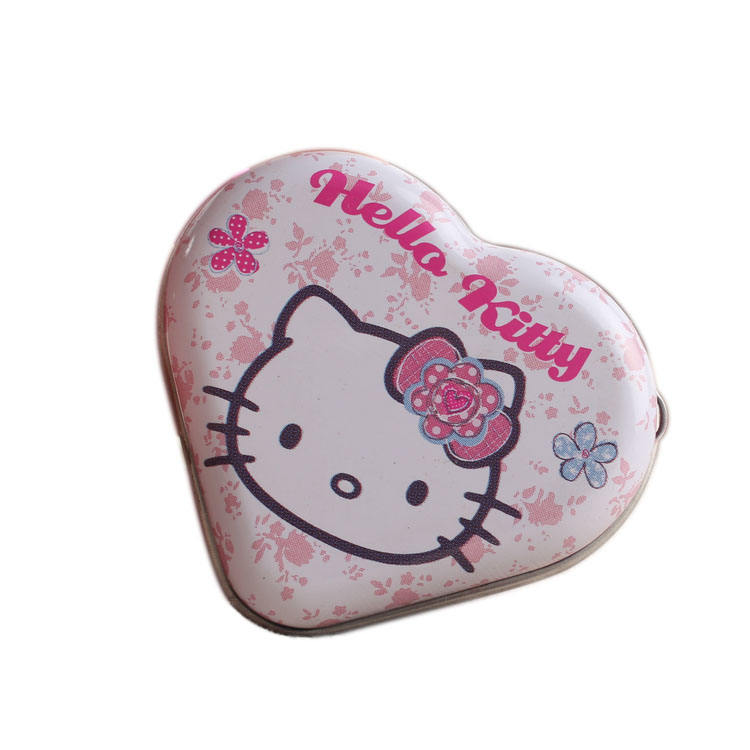 Cheap gift metal Empty heart shape custom tin box for sale