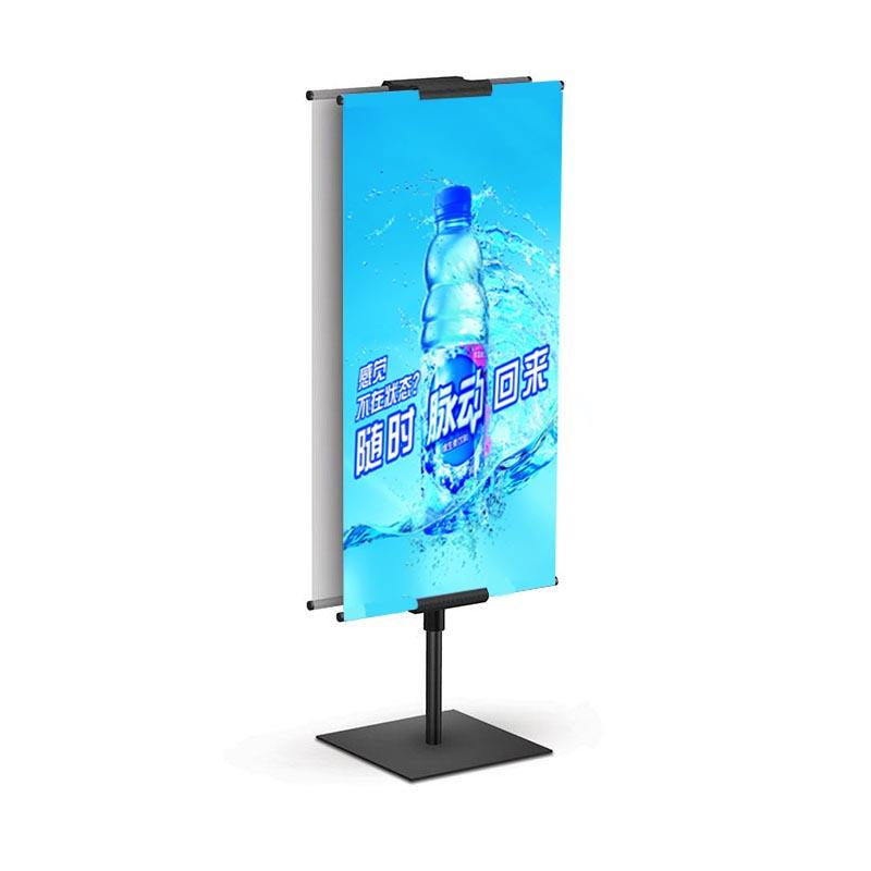 China factory cheap price advertising Shopping mall Metal steel frame poster display banner stands