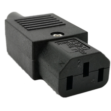 JA-2231 JEC Re-wirable AC Plugs C13 C14 Horizontal Connector assembly plug adapter