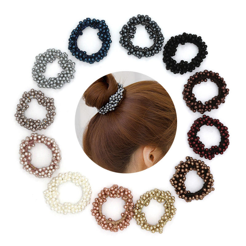 2019 Amazon Hot Selling Best Elastic Hair Ties Bulk Pearl Hair Band