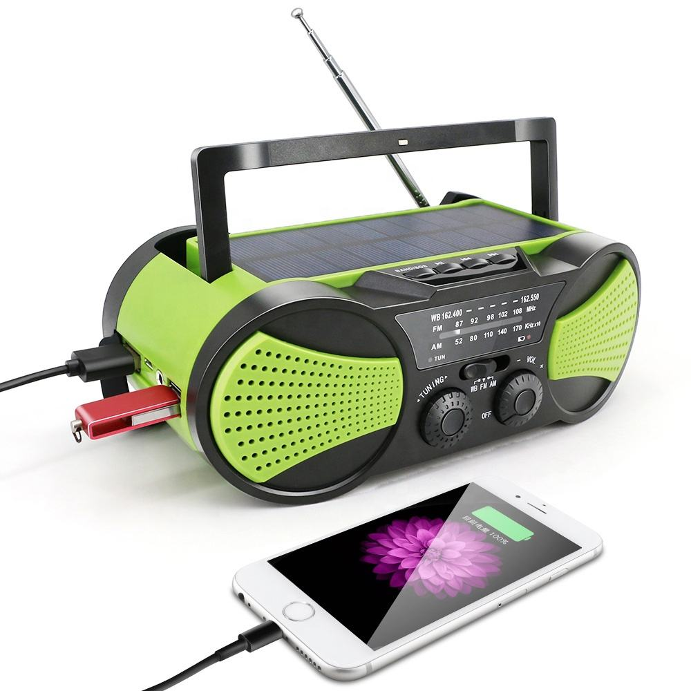 rechargeable solar usb sd card am fm sw multiband radio with mp3 player