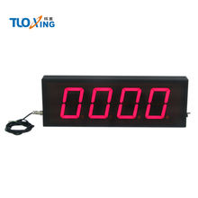 Display digital LED counter button triggers number increases pulse signal