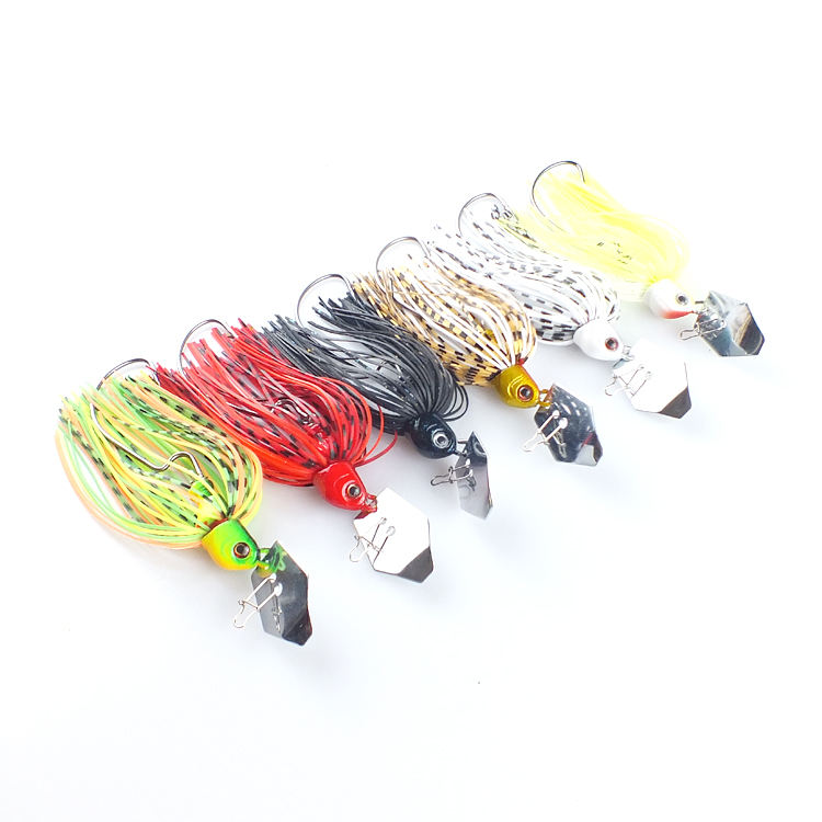 hotsale bladed jig skirt lure flipping jig blade fishing lure