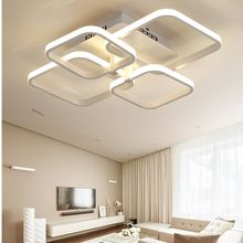 Dimmable Remote Control Modern LED Chandelier 4 Heads 36W Acrylic Lights For Living Room Ceiling Lamp