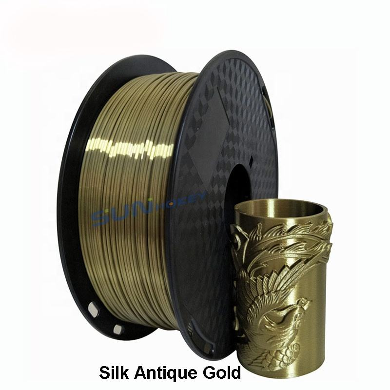Silk Filament PLA Sunhokey Factory Directly 1KG 3D Printer Silk Filament PLA 1.75mm for 3D Printing