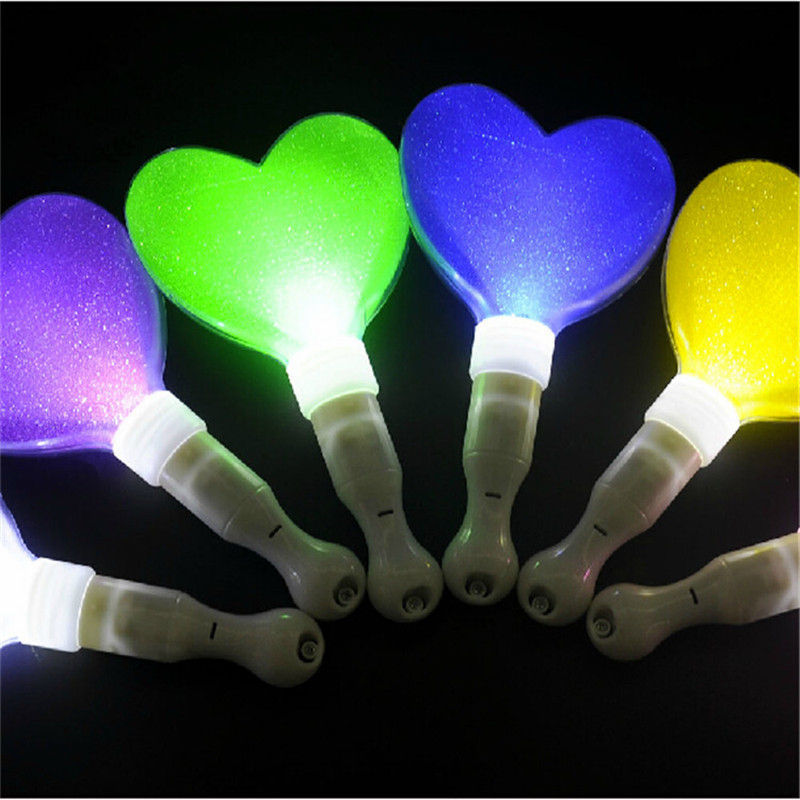 Super Bright Concert Fashion Show Light Stick Party Festivals Big Star Heart Shape Stick LED Stick