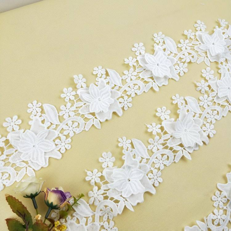 2019 Guangzhou Hot Selling Embroidery 3d Flower Lace Applique