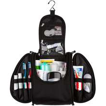 Large Travel Toiletry Kit  black  men  travel wash bag hanging toiletry bag with hooks