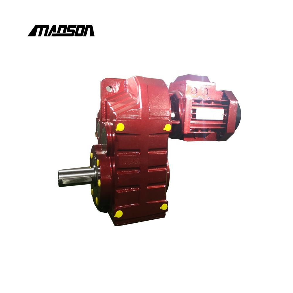 Manson F series 1500 rpm motor Parallel Shaft Helical Transmission gearbox for sale