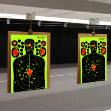 fyt-24368 splatter paper Shooting silhouette sputtering targets Fluorescent Orange for shooting practice, Easy to See Your Shots