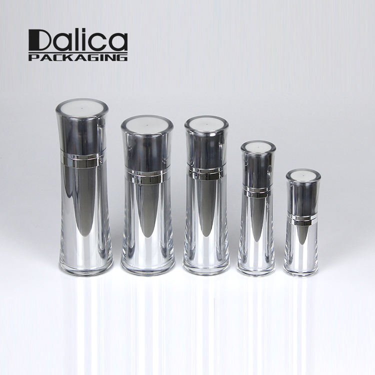 Special design plastic shiny silver innovative bulk cosmetic packaging
