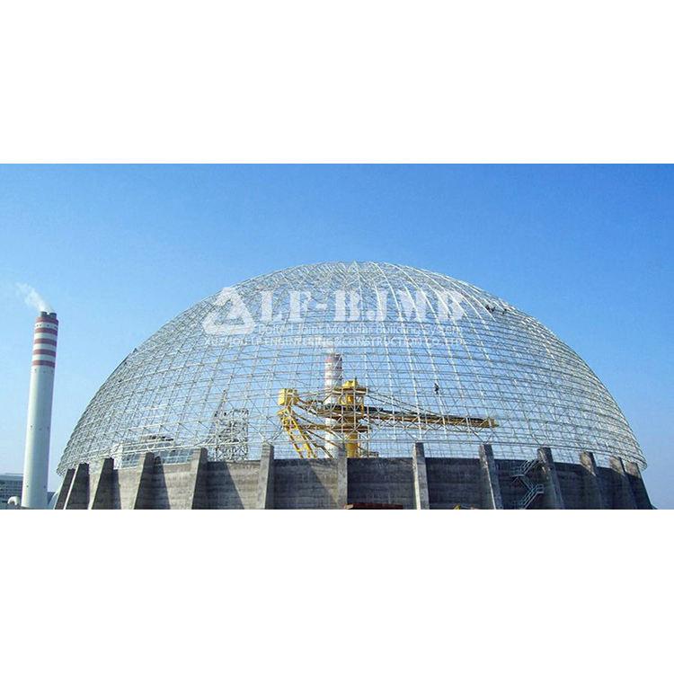 Cúpula de acero carbón a granel almacenamiento bin cobertizo estructura cúpula almacén de material de construcción