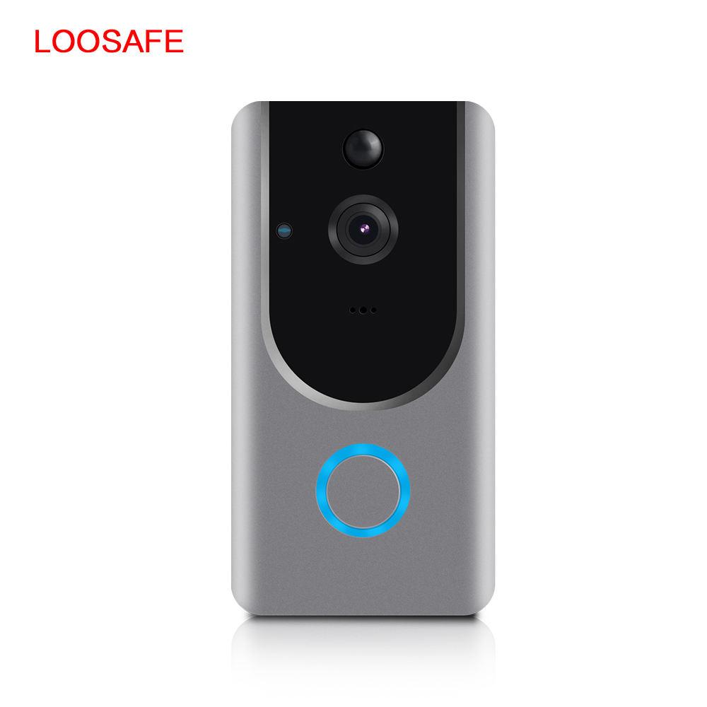 Wi Fi Smart Беспроводной видео дверные звонки 720P ПИР Ночное Видение Дверные звонки Android IOS смарт-домофон системы