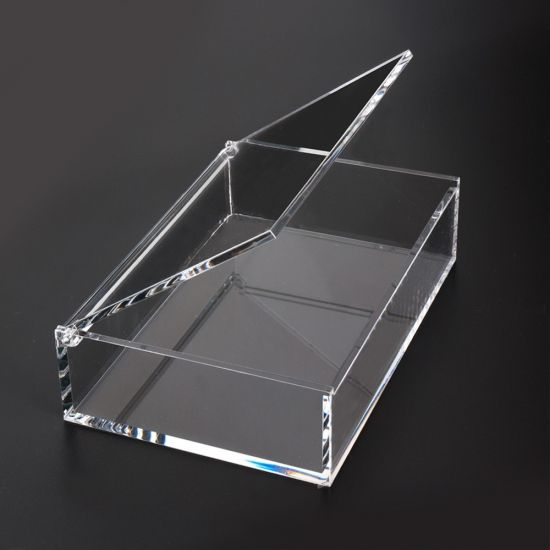 Thick clear acrylic box with magnet lid, plexiglass acrylic square box for candy