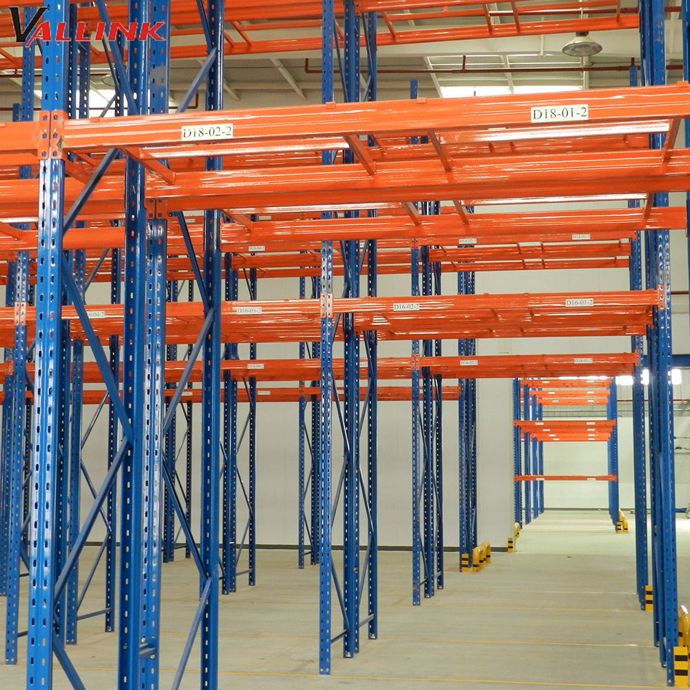Heavy Loading Orange & Blue Warehouse Garment Storage Rack System