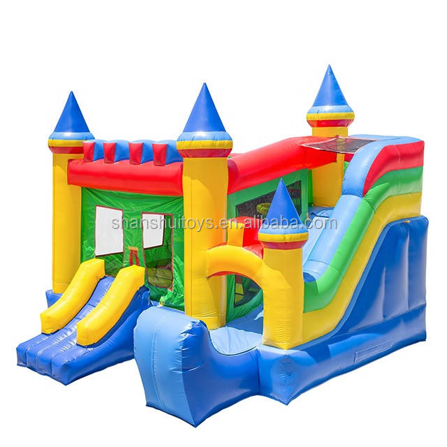 High quality commercial air bouncer combo inflatable kids bounce house with slide for sale