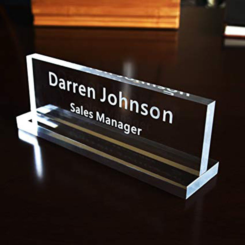 Beautiful customized colorful office acrylic solid desk name plate