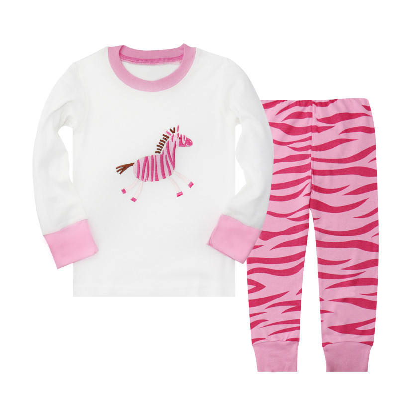 2019 spring children's clothing cotton home service cartoon animal long-sleeved girls pajamas