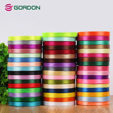 Custom multi- sizes 196 stock color chart 100% Polyester satin gift ribbon wholesale