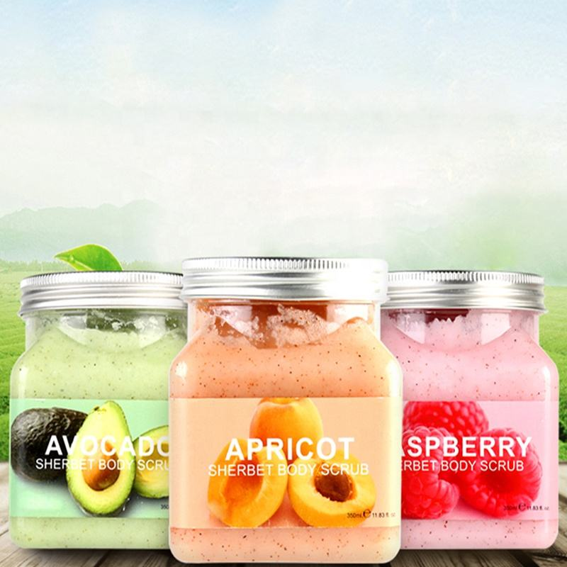 100% Nature Mineral Facial Exfoliating Scrub Anti Aging Wholesale Bamboo Charcoal Avocado cranberry peach Scrub Body face Scrub