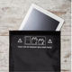 Black Polyester rfid blocking fabric blocker bag Faraday Cage Tablet for Cellphone ipad pro