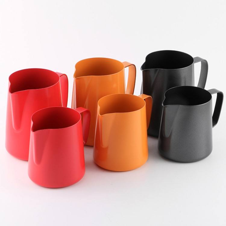 High Quality 100-1000ml Stainless Steel Milk Jug Frothing Cup Metal Coffee Espresso Steaming Milk Pitcher