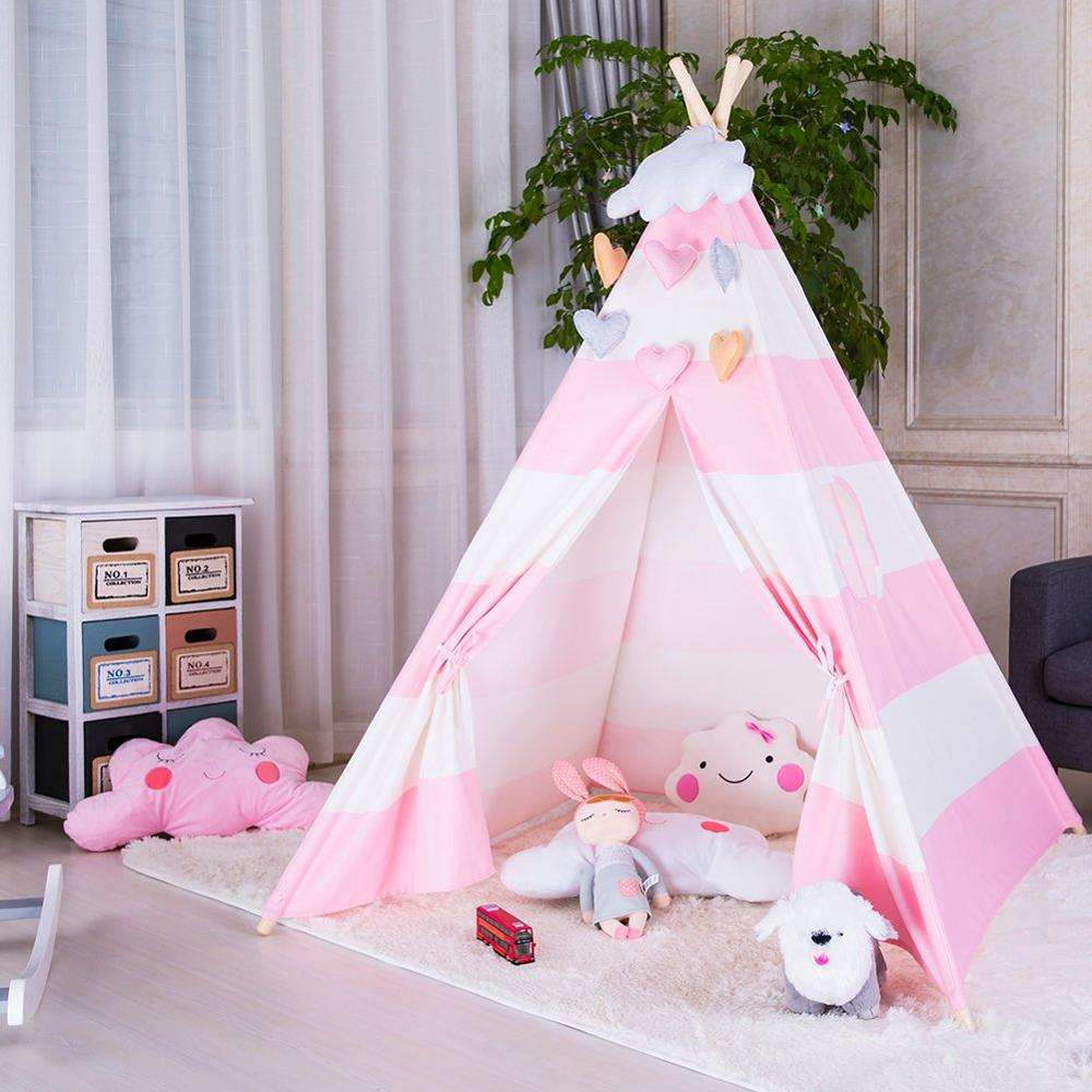Pop Roze Kid Speelhuis <span class=keywords><strong>kinderen</strong></span> Strand Indian Kind <span class=keywords><strong>Tent</strong></span> Teepee