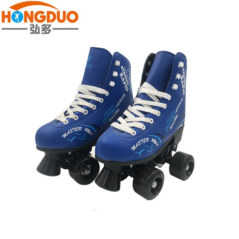 新しいデザインインラインローラースケート靴、卸売クワッドローラースケート、ブルー/ピンク/イエロープロ半柔らかいクワッドtwo oneインラインスケート