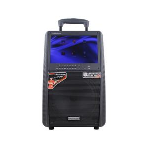 TEMEISHENG portable active subwoofer home karaoke rechargeable speaker with 15 inch LCD player