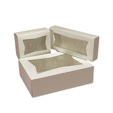 Wholesale Snack Donut Food Bakery Packaging Box Custom Clear White Paper Dessert Bakery Box with Window
