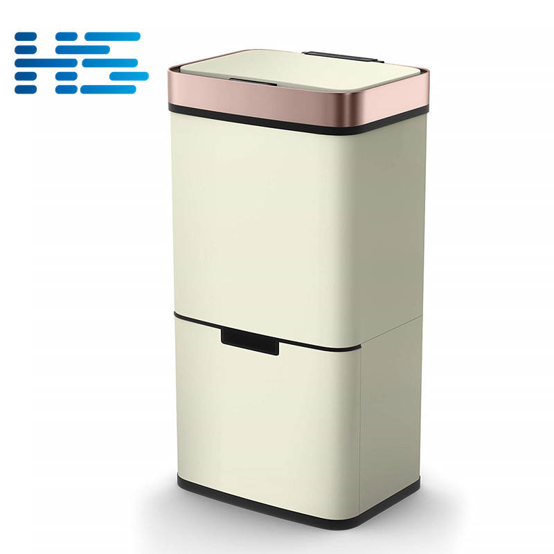New design wholesale 62 liters recycling sensor bin large co-friendly trash bin from chinese factory