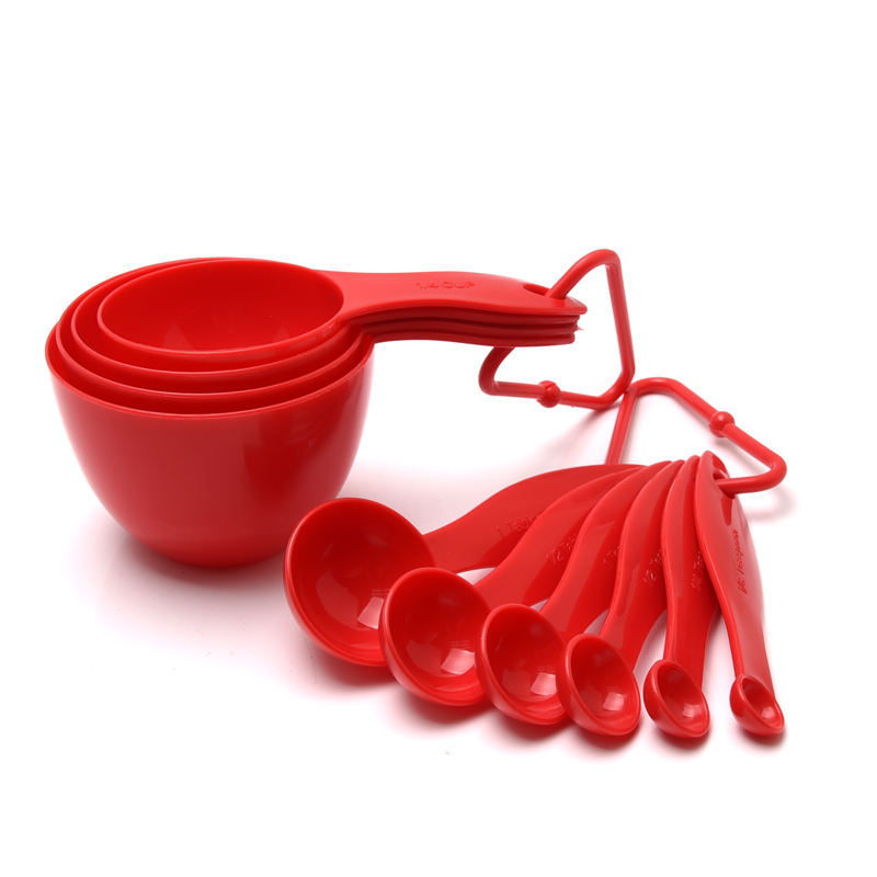 High Quality food grade Kitchen gadgets tools 10pcs Plastic Measuring Cup And Spoon Set/ Powder Measuring Cup Set
