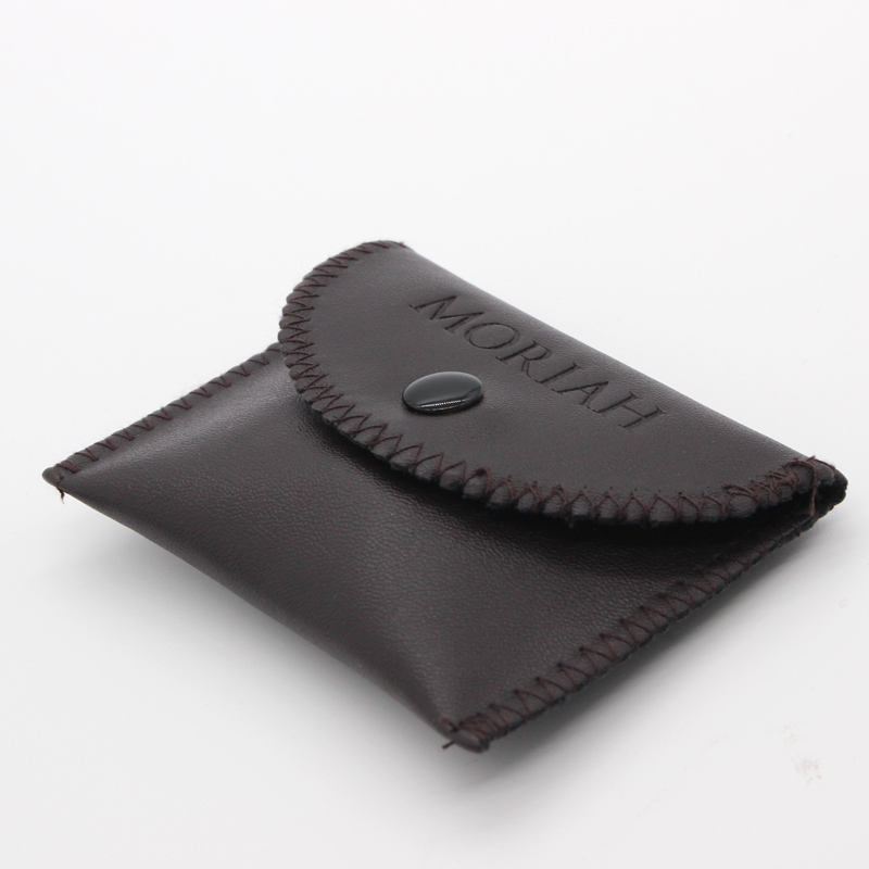 High End quality suede and leather jewelry Button gift Pouch