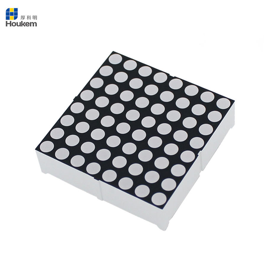 Katoda Umum/Anoda 4.8 Mm 8*8 Bulat Dot Matrix LED Display