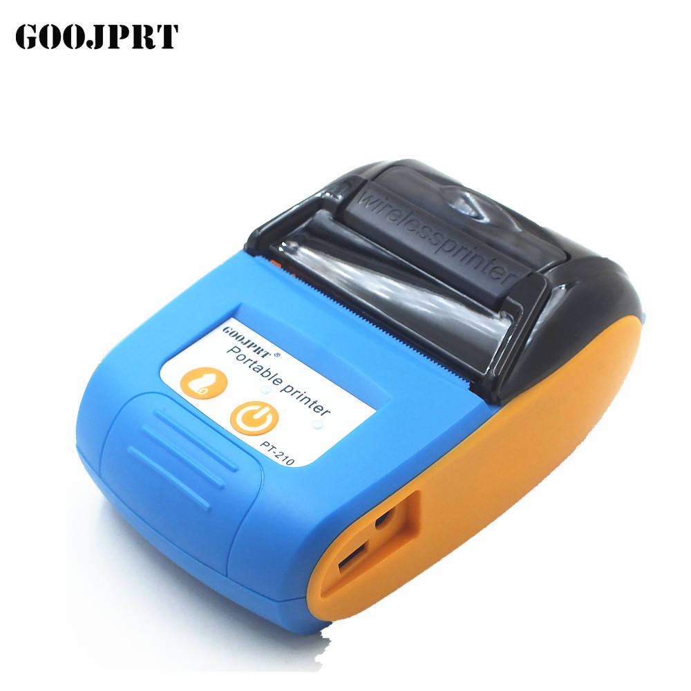 58 MM mini draagbare mobiele bluetooth wifi terminal thermische printer met gratis SDK PT-210